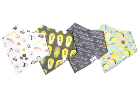 Baja Bibs, 4 pack - Lullaby's Boutique