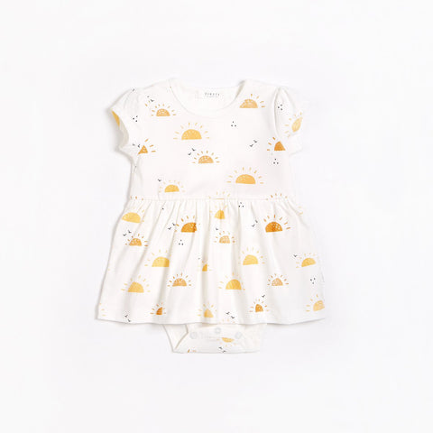 Sunshine Diaper Dress Off-White
