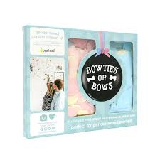 Bowties Or Bows Gender Reveal Confetti Balloon Kit - Lullaby's Boutique