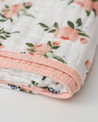 Watercolour Roses Organic Muslin Quilt - Lullaby's Boutique