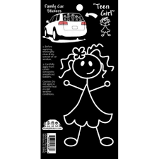 Family Car Stickers -- Teen Girl - Lullaby's Boutique