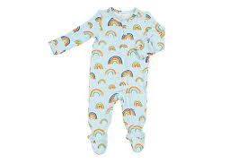 Blue Rainbow Zipper Footie
