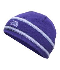 Purple North face Logo Beanie - Lullaby's Boutique