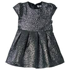 Metallic Silver Dress - Lullaby's Boutique