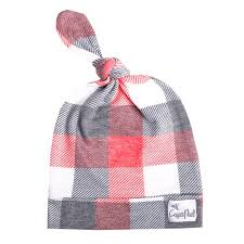Adjustable Top Knot Plaid Hat - Jack