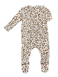 Leopard Zipper Footie