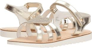 Andria Gold Heart Sandal - Lullaby's Boutique