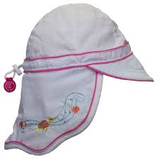 CaliKids Sea Horse UV Quick Dry Hat With Neck Protection - Lullaby's Boutique