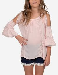 Pink Cold Shoulder Lace Top - Lullaby's Boutique