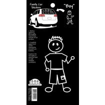 Family Car Stickers -- Boy - Lullaby's Boutique