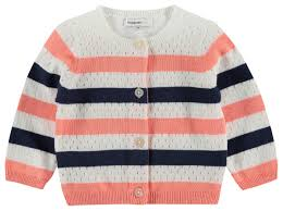 Peach Navy Cardigan - Lullaby's Boutique