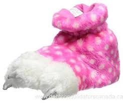 Monster Paw Pink Slippers - Lullaby's Boutique