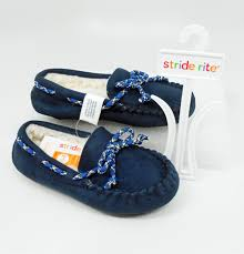 Navy Moc Slippers - Lullaby's Boutique