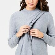 Rib Neck Nursing Knit Sweater - Lullaby's Boutique