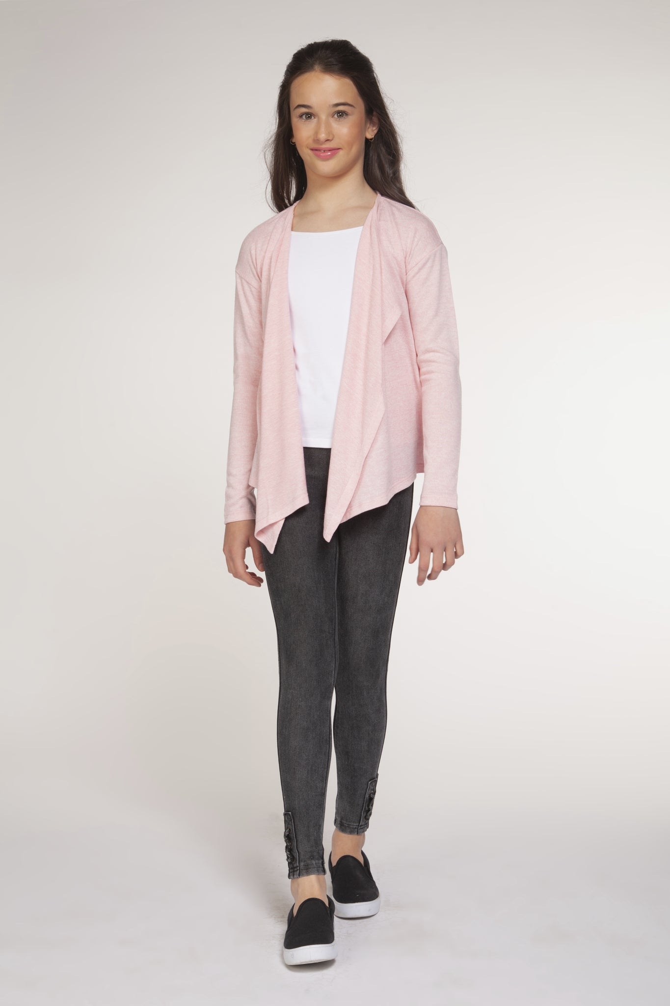 Pink Waterfall Cardigan - Lullaby's Boutique