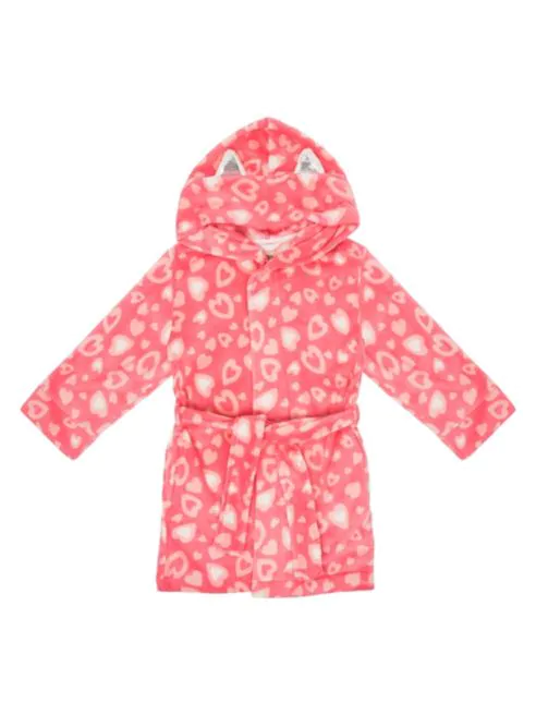 Heart-Print Kitty Cat Robe - Lullaby's Boutique