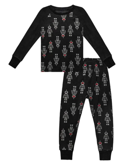 Robot Pajamas, 2 piece set - Lullaby's Boutique