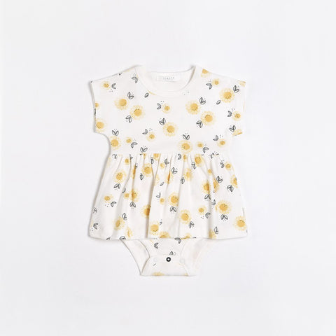 Sunflowers Diaper Dress - Lullaby's Boutique
