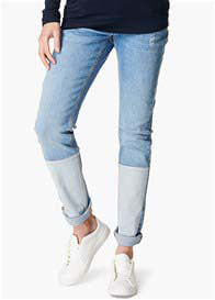 Robin Patch Boyfriend Maternity Jeans - Lullaby's Boutique