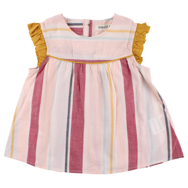 Striped Tunic with Ruffle Sleeve - Lullaby's Boutique