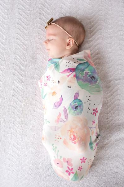 Premium Knit Swaddle Blanket Bloom - Lullaby's Boutique