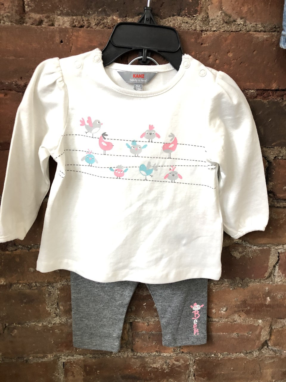 Winter Birds 2 Piece Set - Lullaby's Boutique