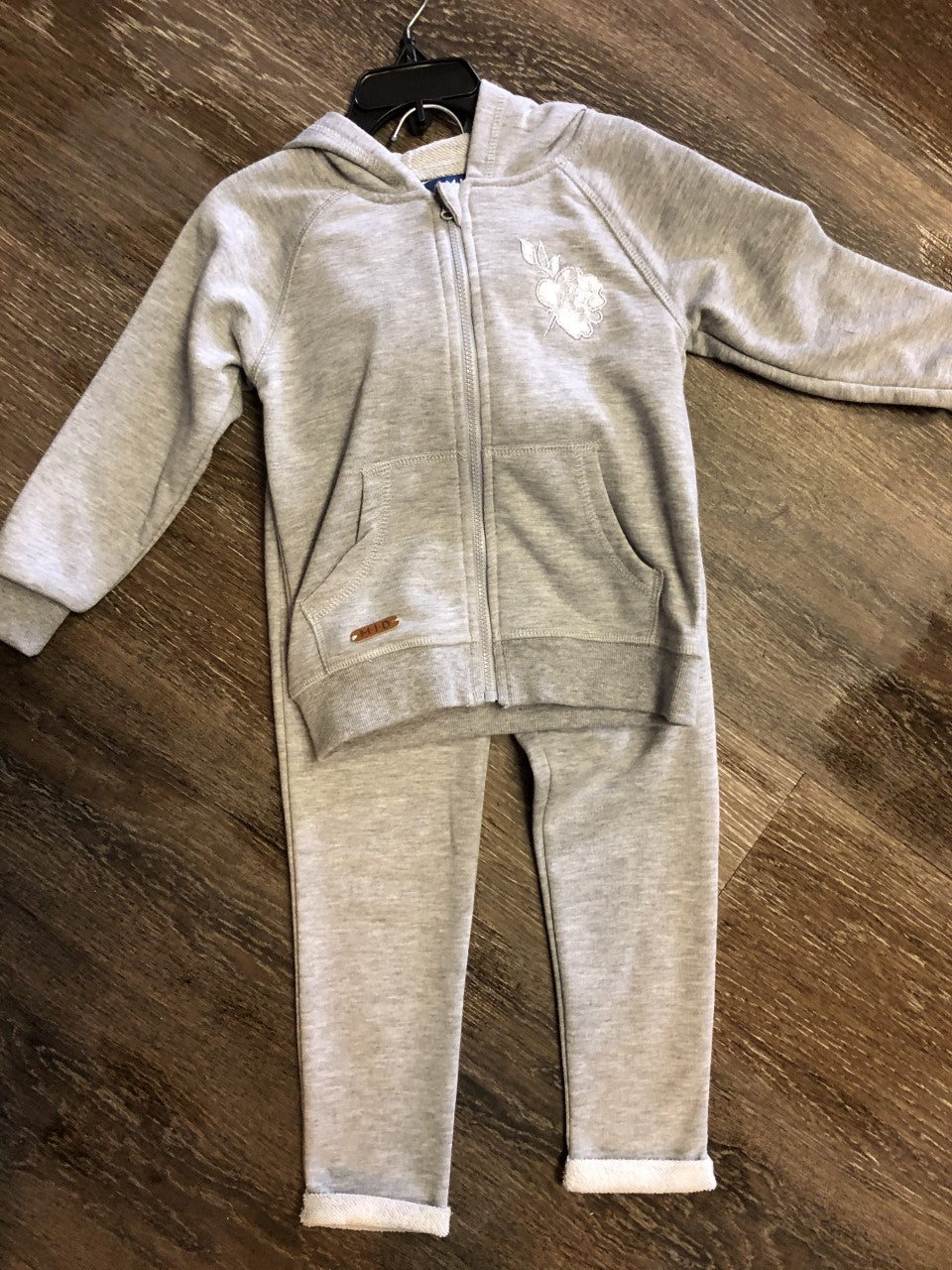 Grey Lace Jogger Sweatsuit - Lullaby's Boutique