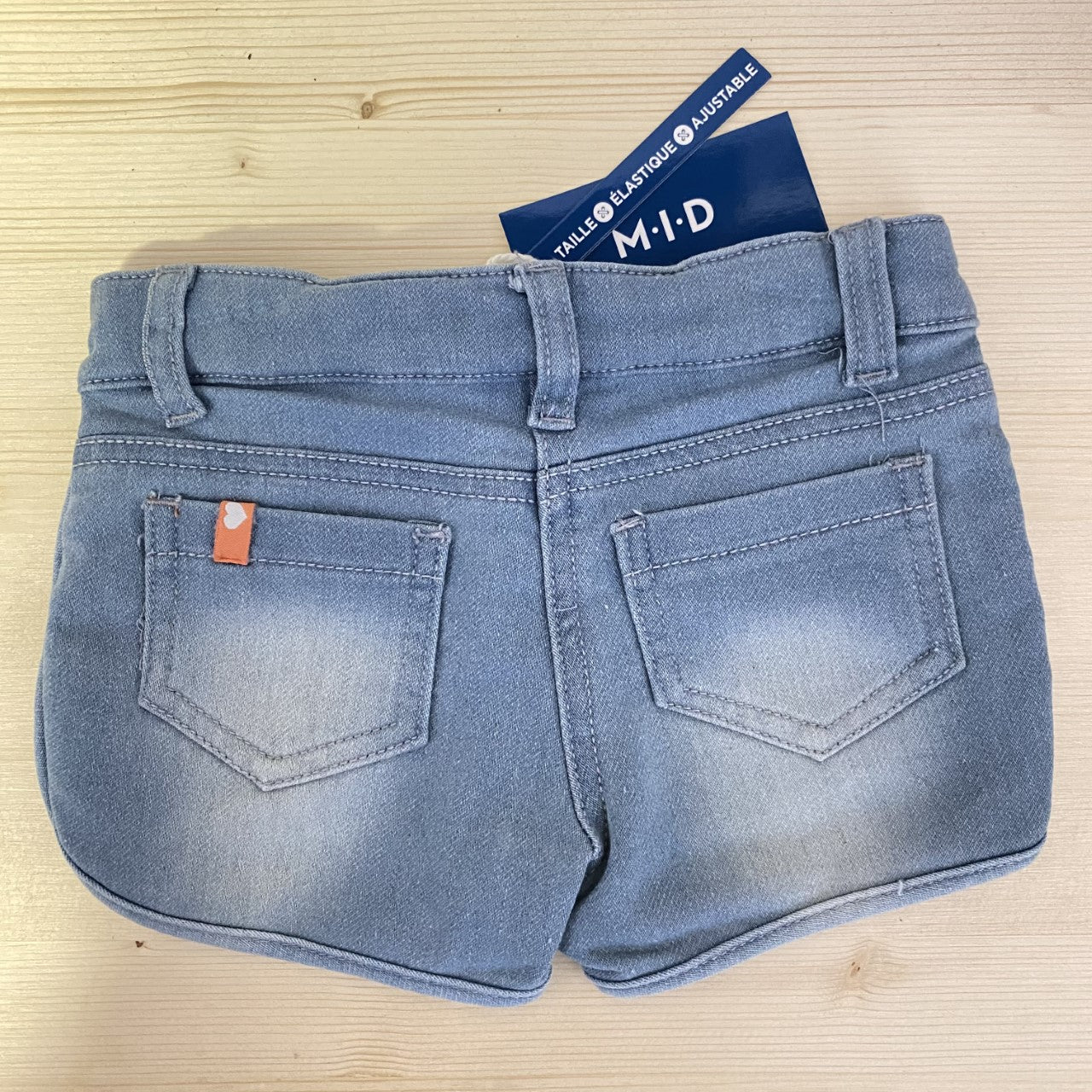 Light Wash Denim Shorts