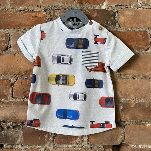 Oatmeal Mix Cars Tee