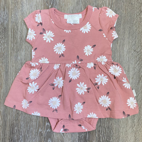 Pink Daisy Diaper Dress