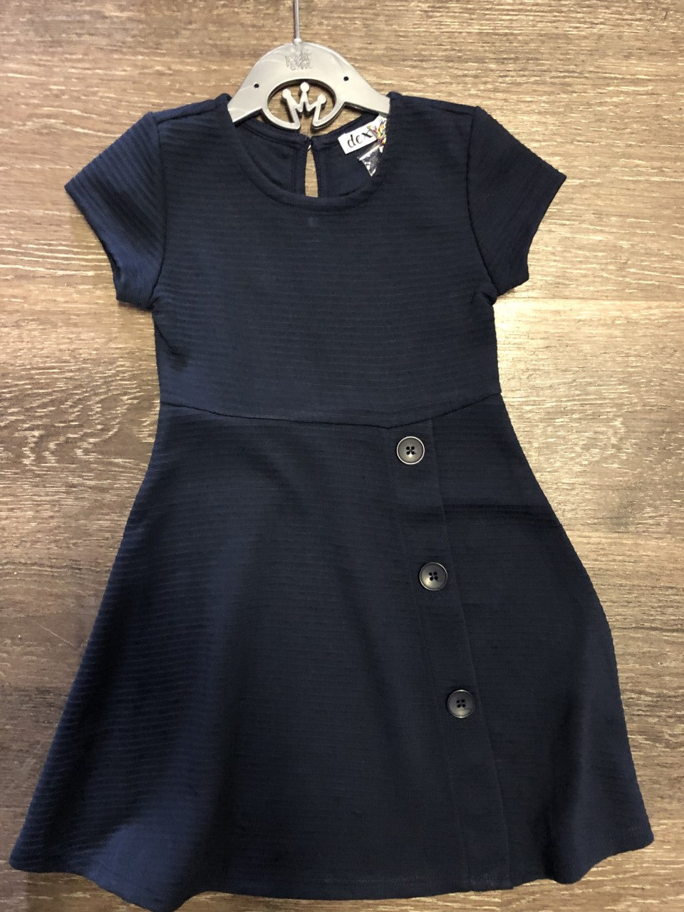Navy Ribbed Dress - Lullaby's Boutique