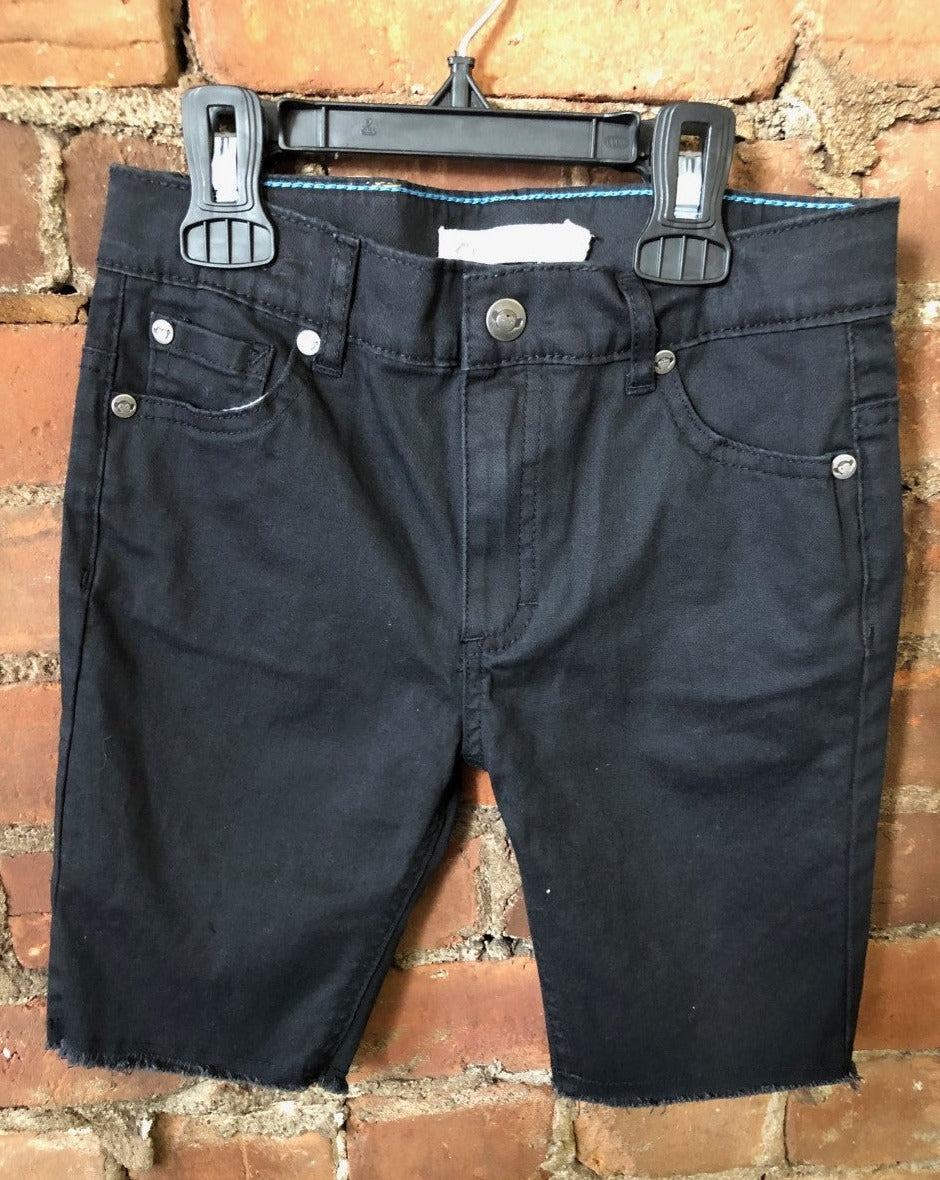 Black Jean Cutoff Shorts - Lullaby's Boutique