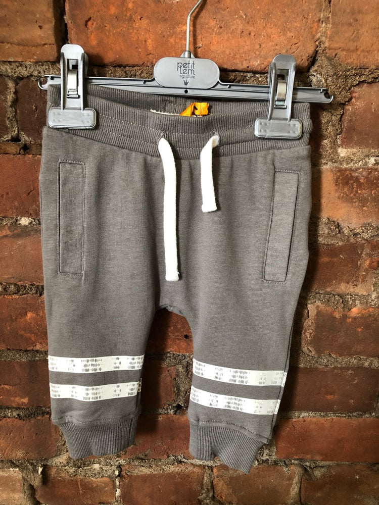 Grey Sweatpants with White Stripe - Lullaby's Boutique