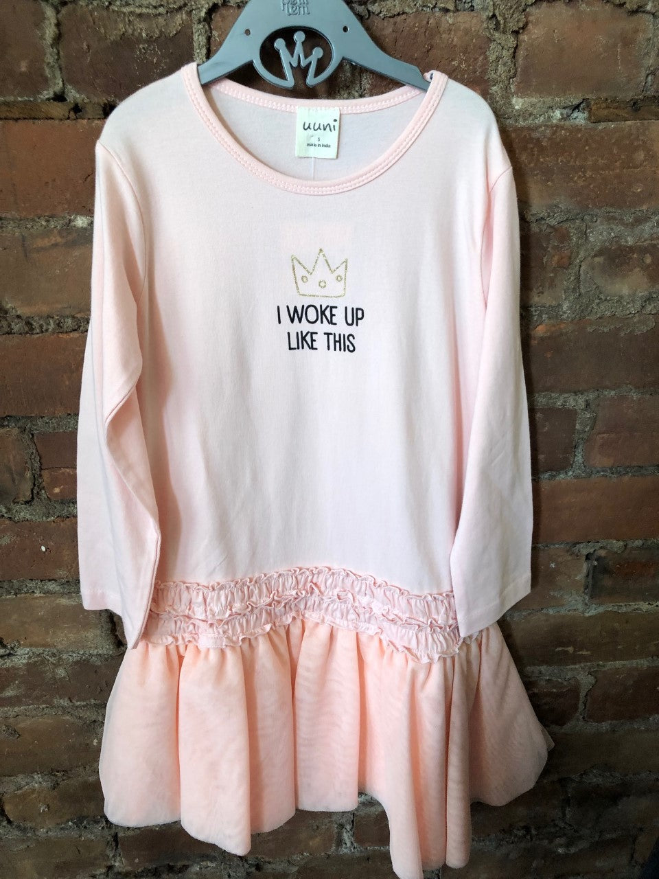 I Woke Up Like This Crown Dress - Lullaby's Boutique