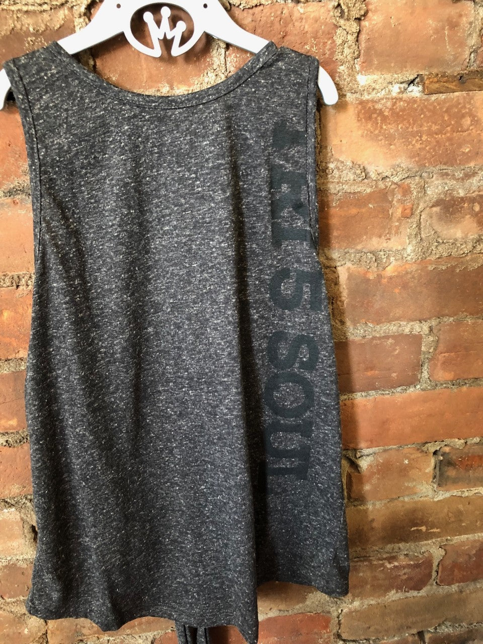 Cross Back Grey Tank - Lullaby's Boutique