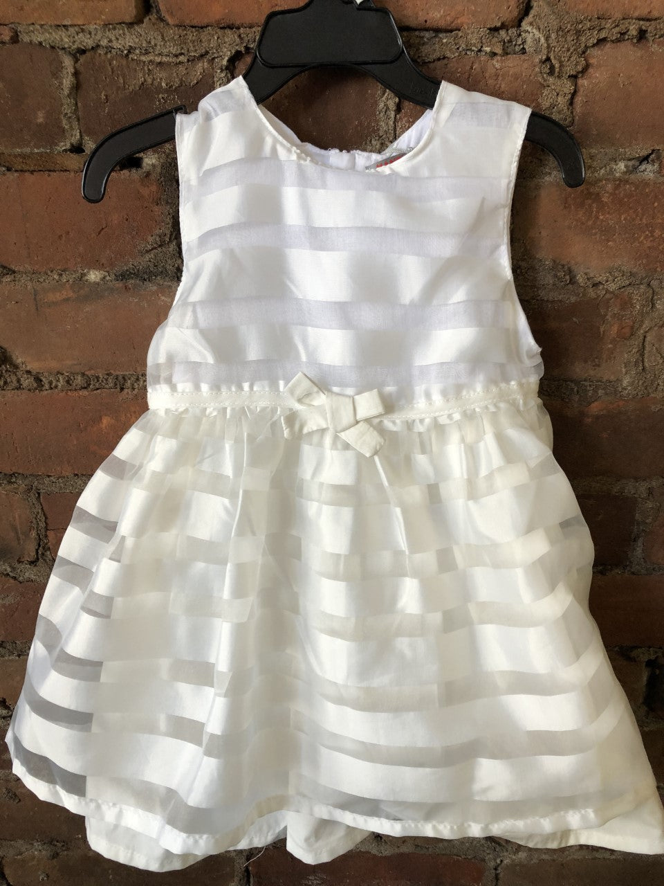 White Stripe Dress with Diaper Bloomer - Lullaby's Boutique