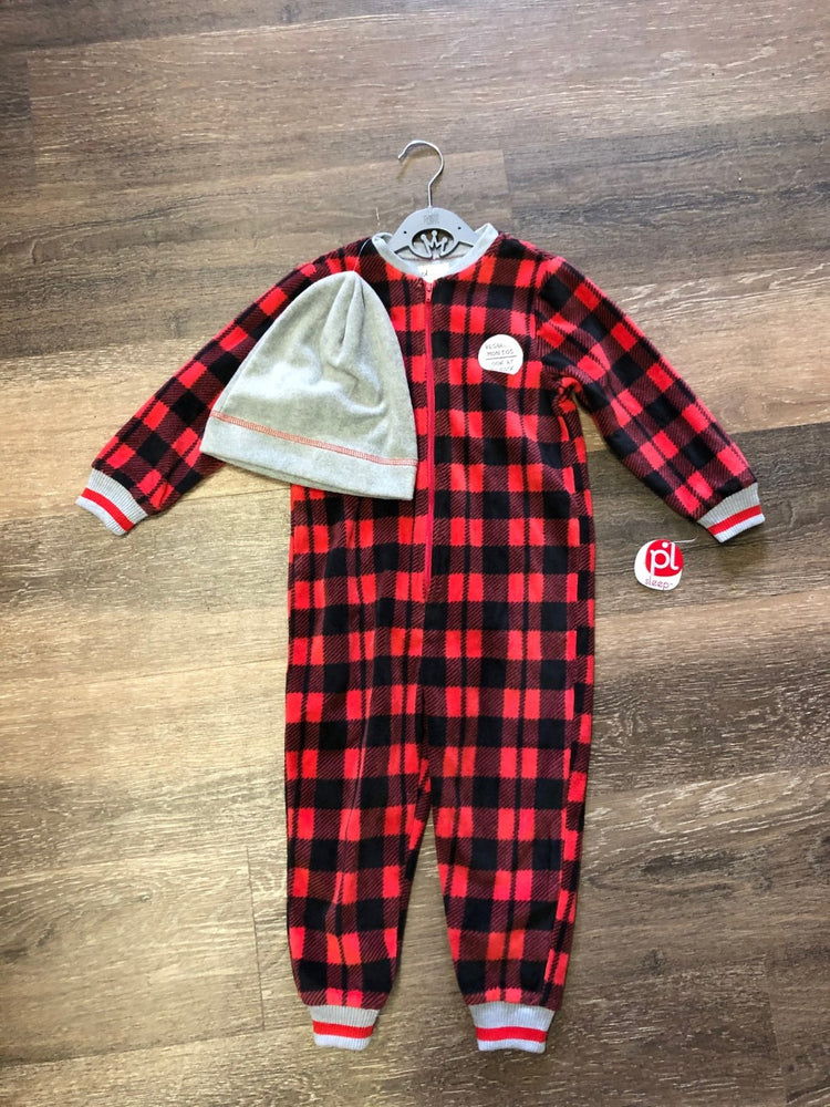 Buffalo Plaid Onesie Bear Pyjama - Lullaby's Boutique