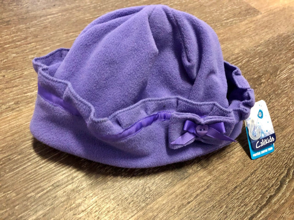Fleece Purple Hat With Chin Strap - Lullaby's Boutique