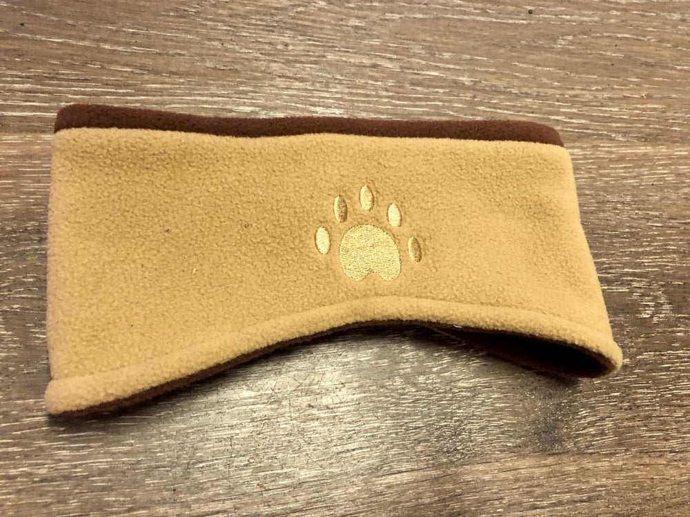 Fleece Headband With Paw Print - Lullaby's Boutique