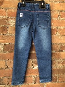Jeans with Knee Detailing - Lullaby's Boutique