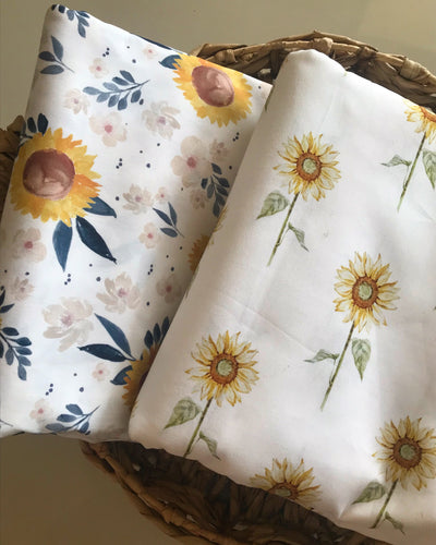 Sunflower Steam - Fitted Cot Sheet