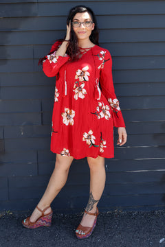 Red Hawaiian Dress/ Tunic