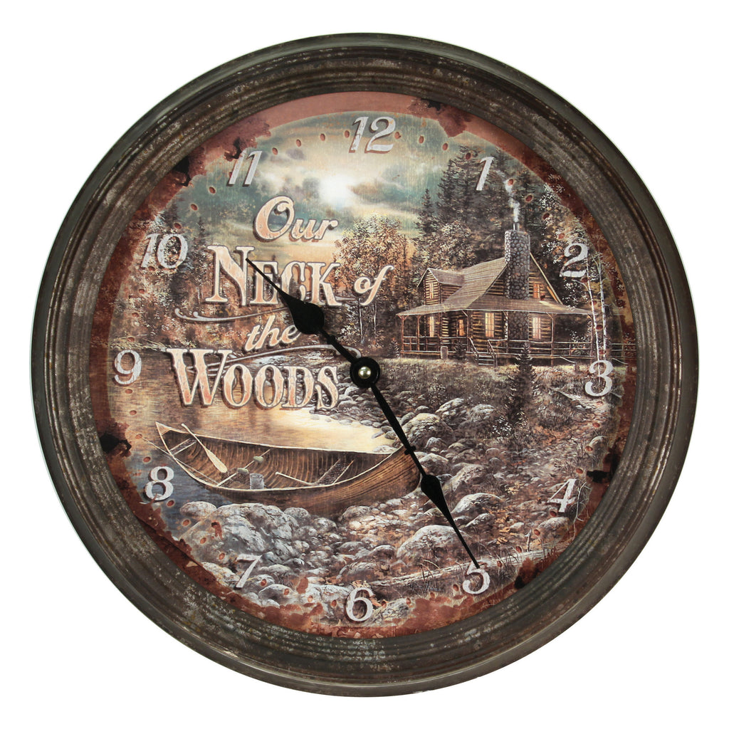 Clock 15-inch - Neck of Woods (Rusted)