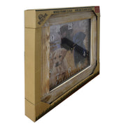Clock Wood Frame 24-inch - Lab/Puppies