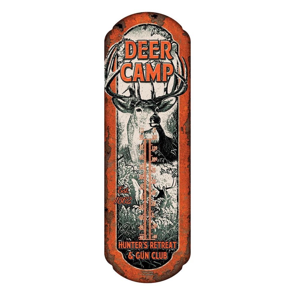 Tin Thermometer - Deer Camp