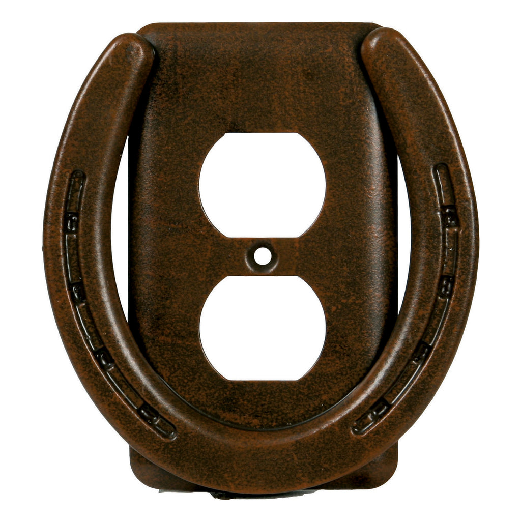 Electrical Cover Plate Receptacle Single - Horse Shoe