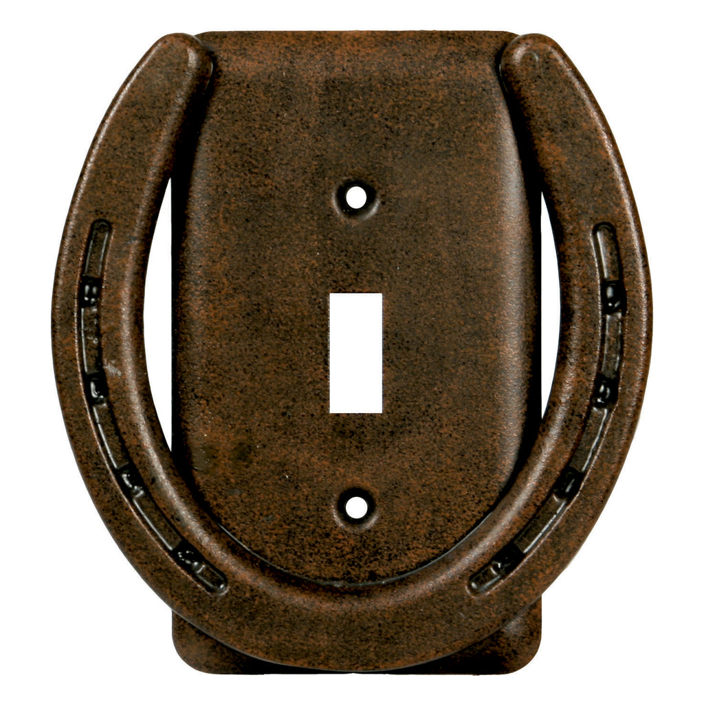 Switch Plate Cover Single - Horse Shoe