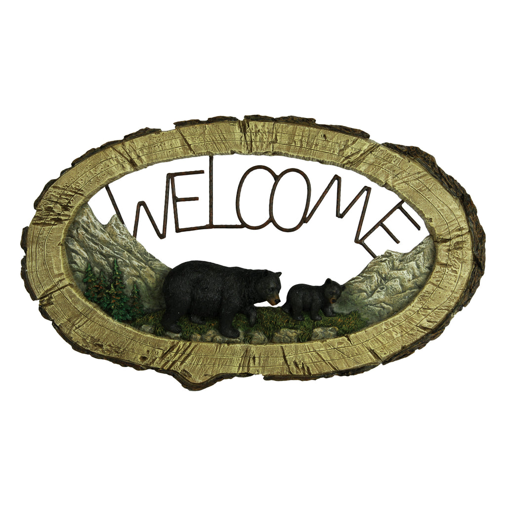 Welcome Sign - Bear Pine Tree