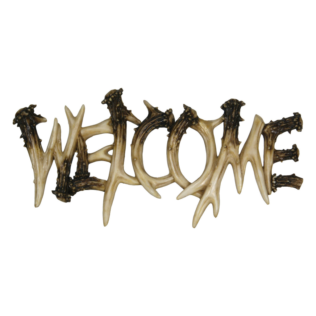 Welcome Plaque - Deer Antler