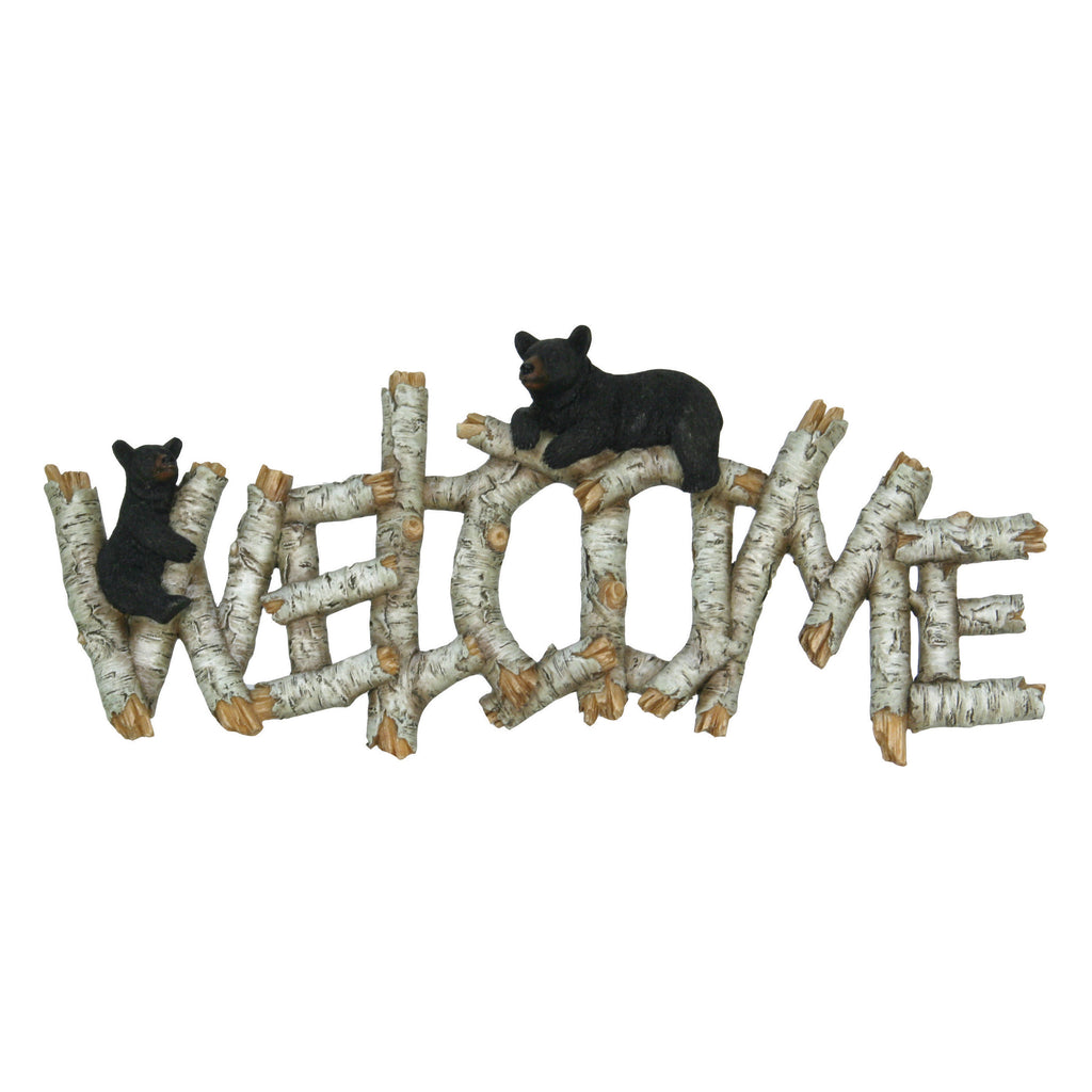 Welcome Plaque - Birch Bear